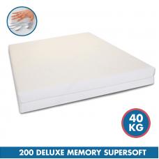 Comfortlux Deluxe Memory 200 Mattress (40 Kg Super Soft Density Memory Foam)