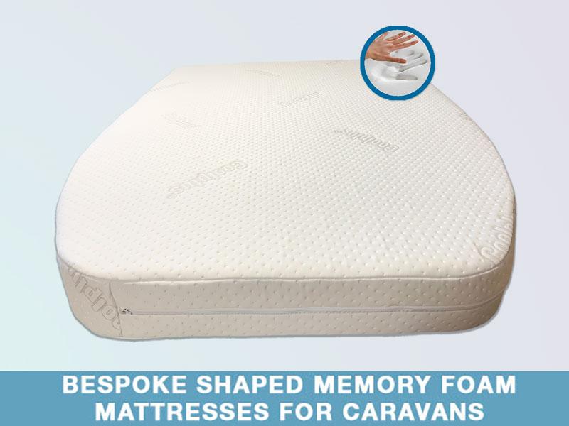 shaped memory foam mattresses for caravans